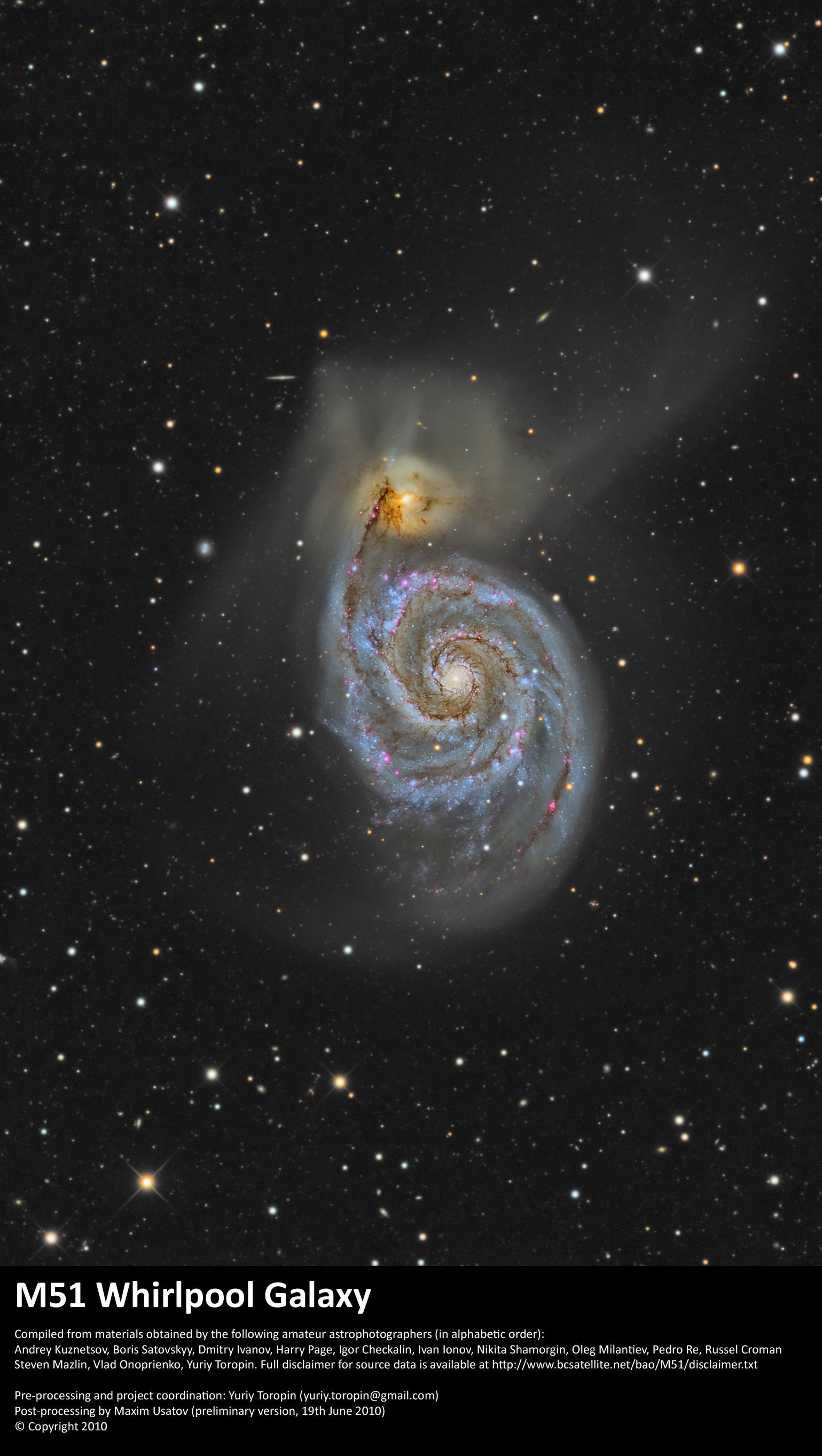 M 51—The Whirlpool Galaxy
