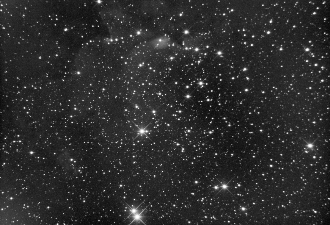 Young Open Star Cluster NGC 7380 and Sh2-142 Diffuse HII Nebula (Cepheus Star-Forming Region)