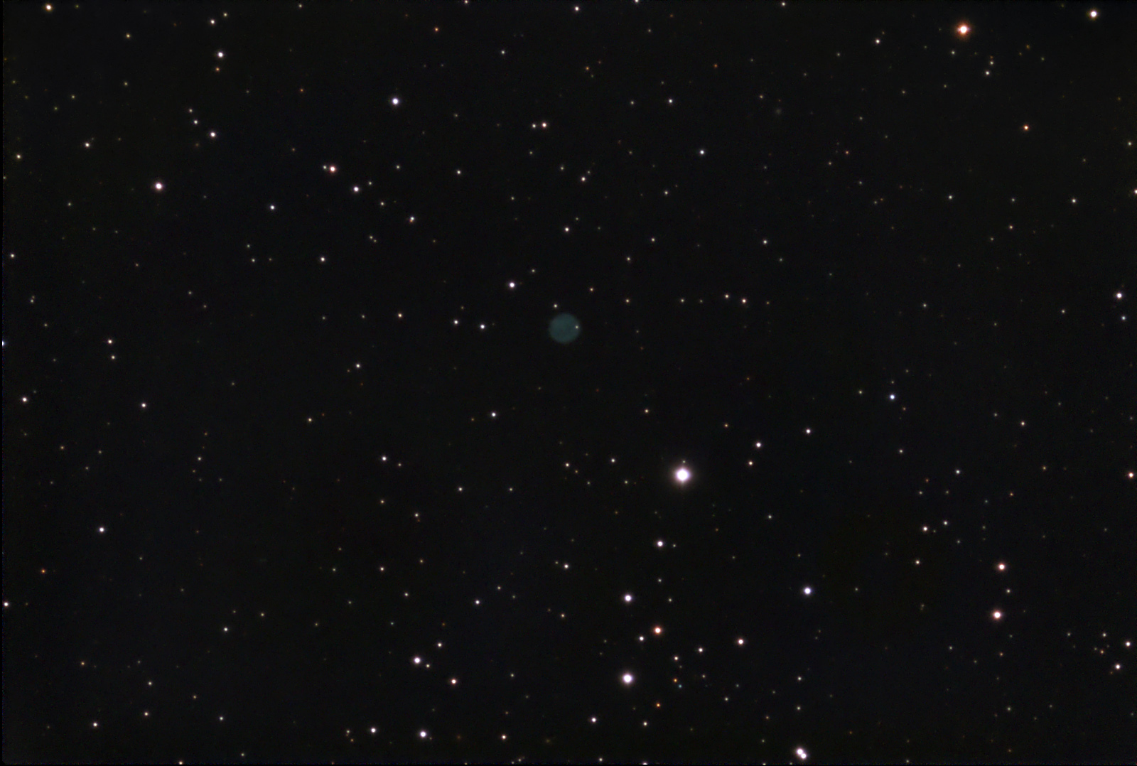 Abell 50—Planetary Nebula in Draco (NGC 6742, PK 78+18.1)